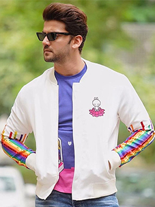 Manish Arora Paris X KOOVS Tuzki Rainbow Sequin Bomber Jacket