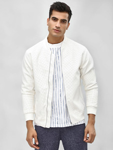 KOOVS Perforated Bomber Jacket