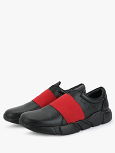 KOOVS Elasticated Slip-On Running Shoes