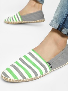 KOOVS Colour Block Stripe Elasticated Espadrilles