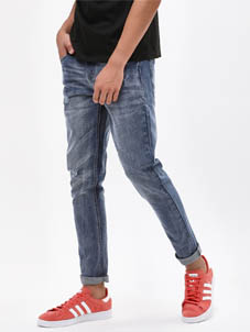 K Denim Ripped Washed Skinny Jeans