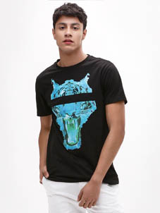 KOOVS Neon Tiger Graphic T-Shirt
