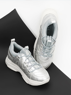 KOOVS Metallic Ghillie Lace-Up Trainers