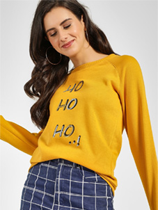 KOOVS Christmas Slogan Sequin Sweatshirt