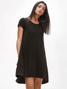 KOOVS Swing Asymmetric Hem Dress