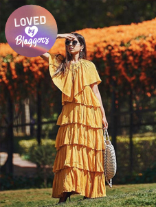 KOOVS Victoriana Tiered Maxi Dress