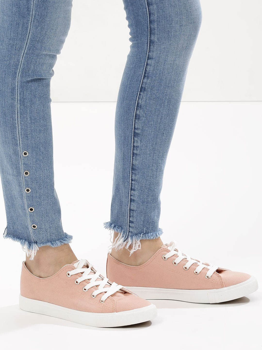 New Look Light Pink Trainers 1