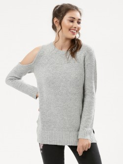 Urban Bliss One Cold Shoulder Longline Jumper