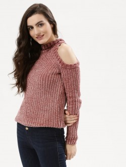 Urban Bliss Doris Cold Shoulder Chenille Jumper