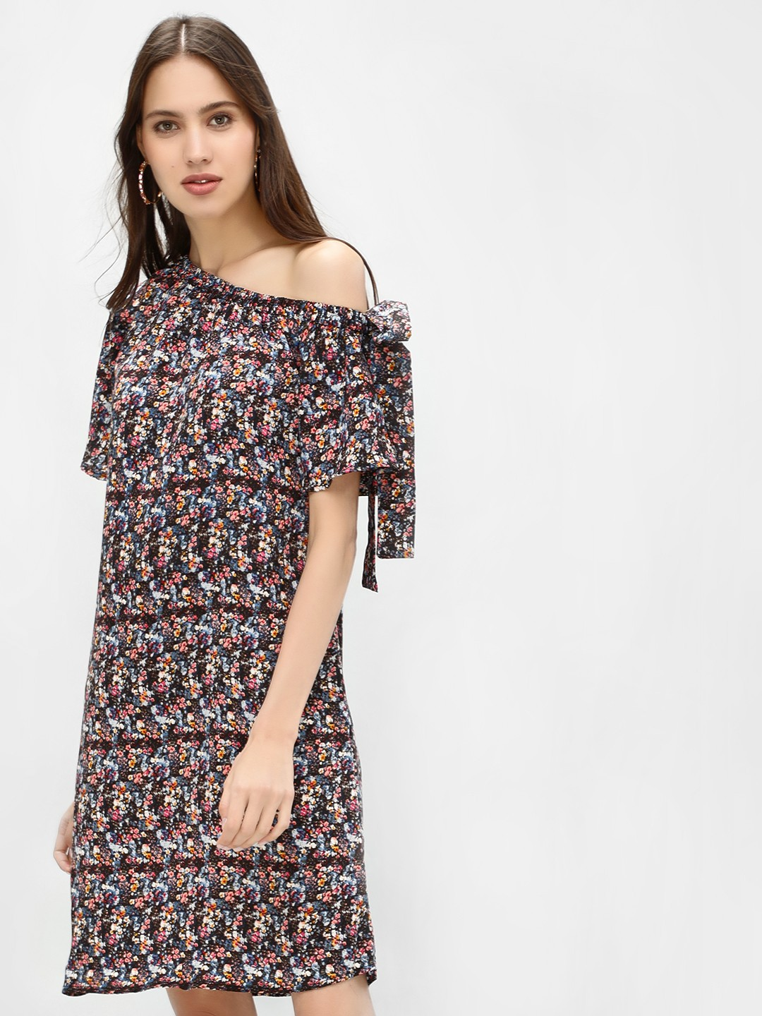 Femella Print Exclusive Printed One Shoulder Dress 1