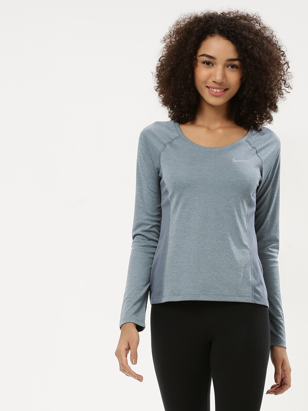 Buy Nike ARMORY BLUEHTR As W Nk Dry Miler Top Ls for Girls