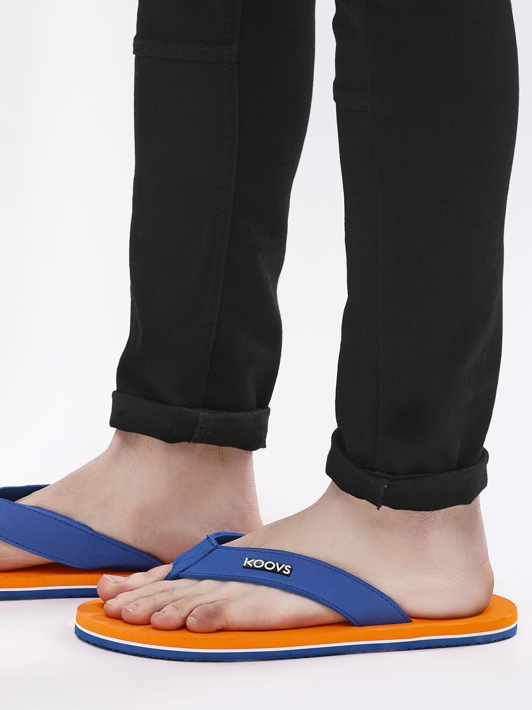 KOOVS Orange Two Tone Flip Flops 1