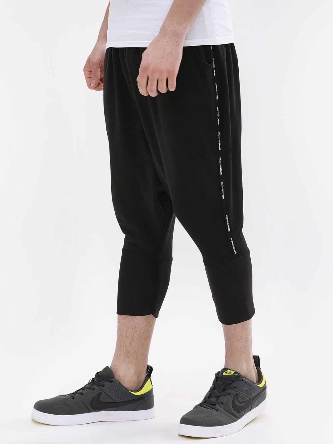 Fighting Fame Black Drop Crotch Joggers 1