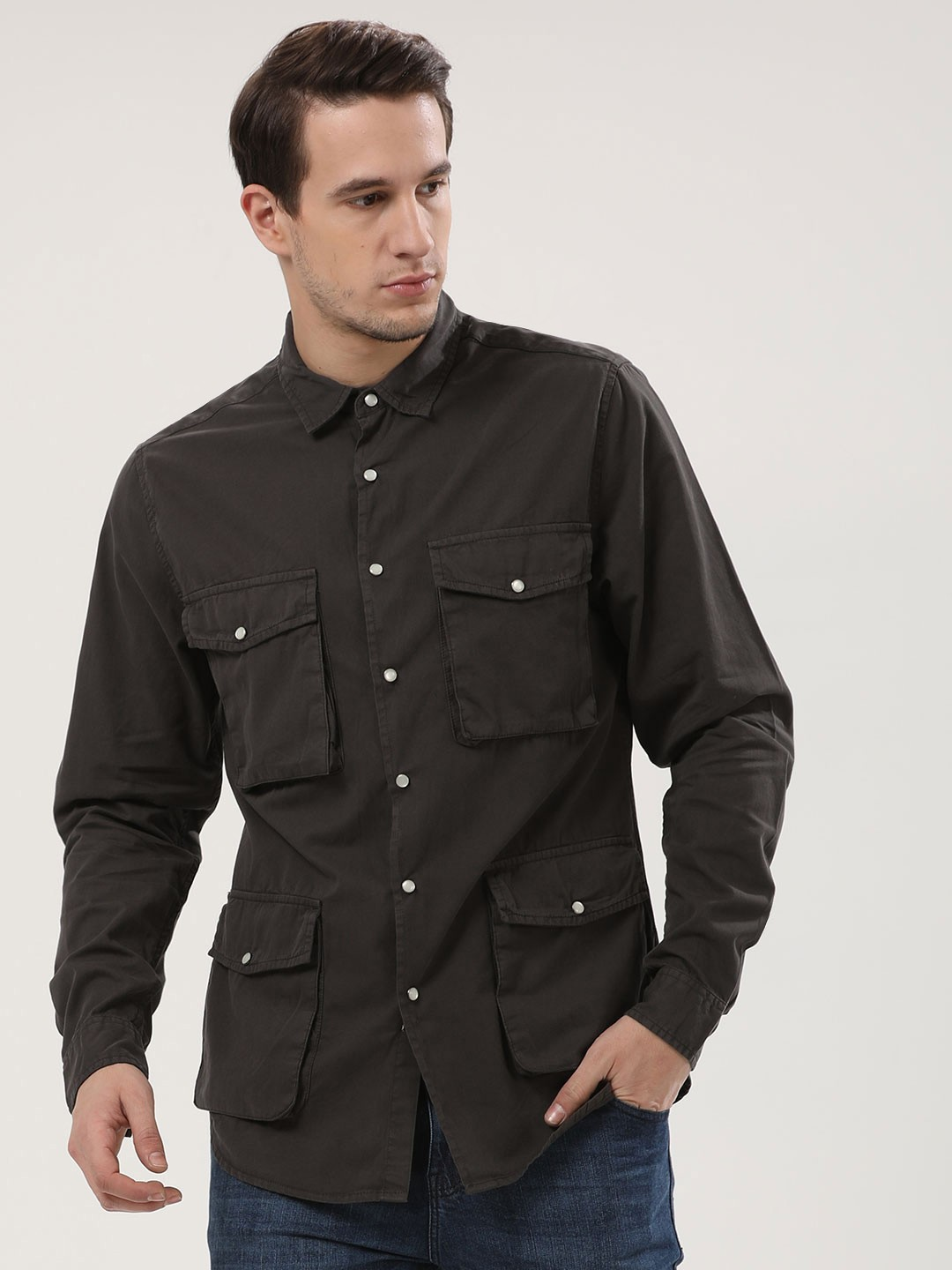 Blue Saint Grey Fothergill Patch Pocket Shirt 1