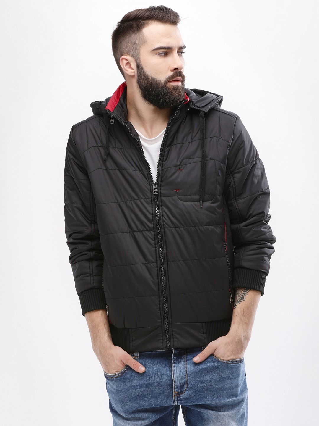 Fort Collins Black Puffer Jacket With Detachable Hood 1