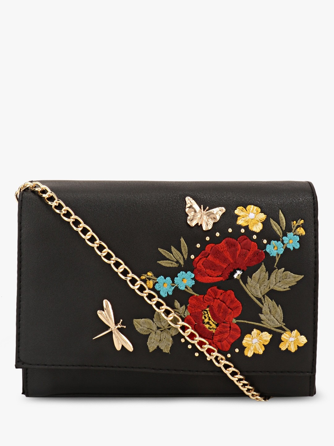 cheap price best site matching in colour Buy New Look Black Insect Stud Embroidery Crossbody Bag for ...