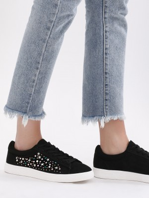 New Look Embellished Side Lace Up Shoes offer