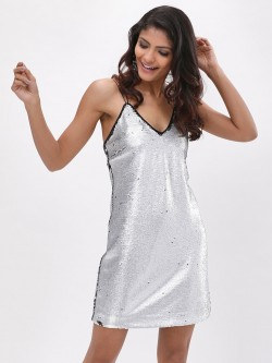 New Look Go Matte Sequin Slip Dress