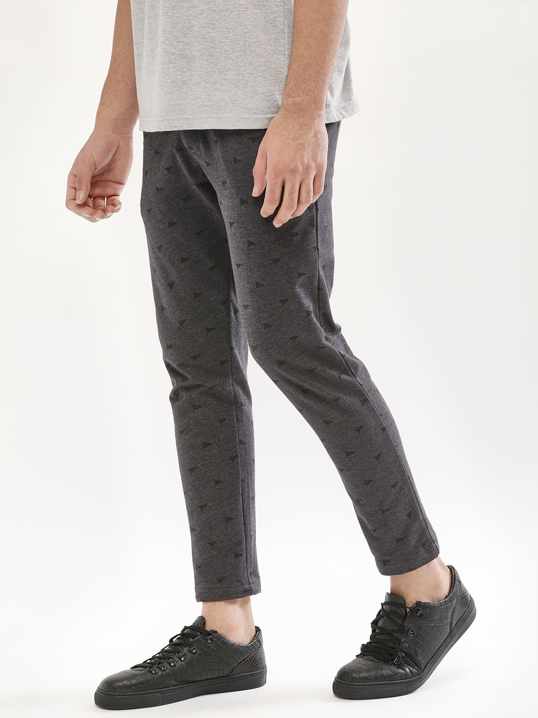 Buy Garcon ANTHRA MEL Knitted Trousers In Slim Fit for Men