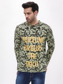 Fighting Fame Fortune Favours The Bold Gold Foil Camo T-Shirt