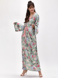 Glamorous Wrap Printed Maxi Dress