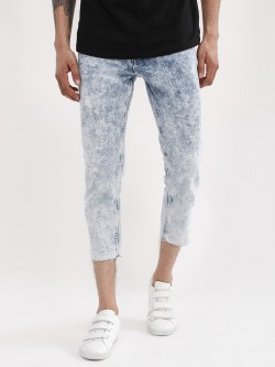 New Look Acid Wash Cropped Slim Jeans
