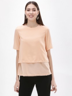 Femella Dual Layer Lace Detail Top