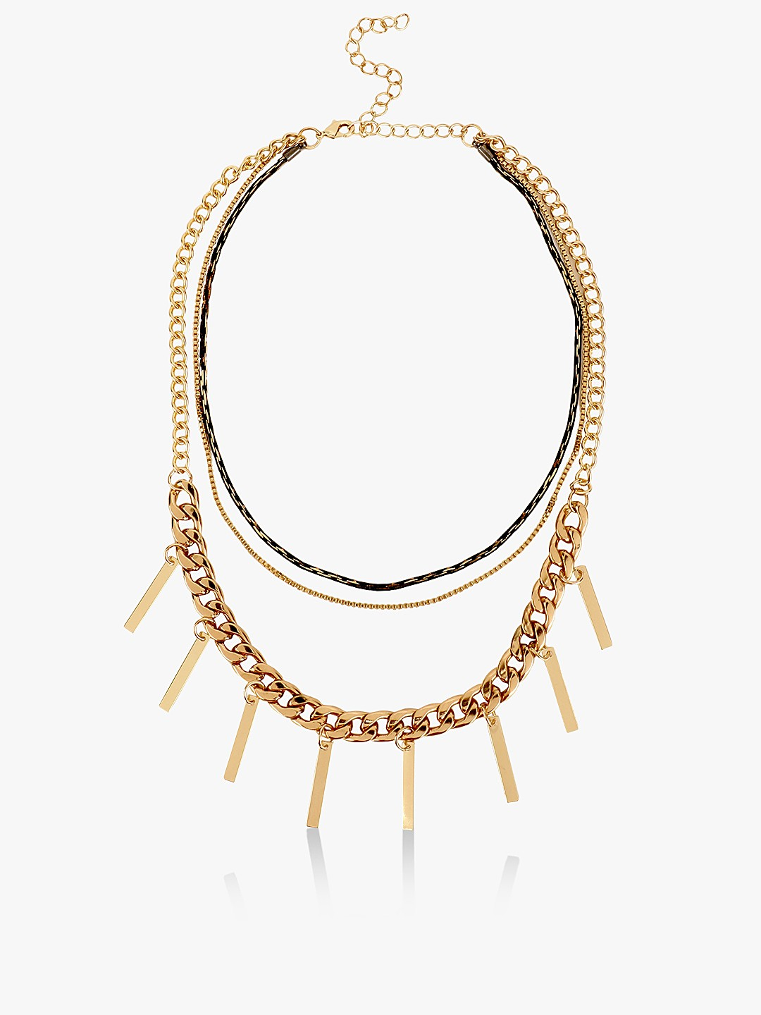 Style Fiesta Gold Multi Layer Necklace 1