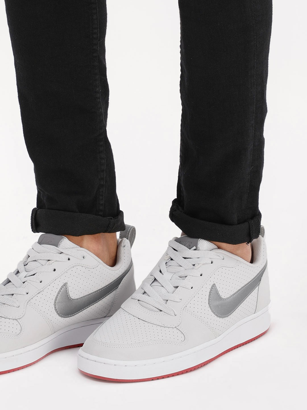 details for wholesale sales various colors Buy Nike Grey Court Borough Low Sneakers for Men Online in India