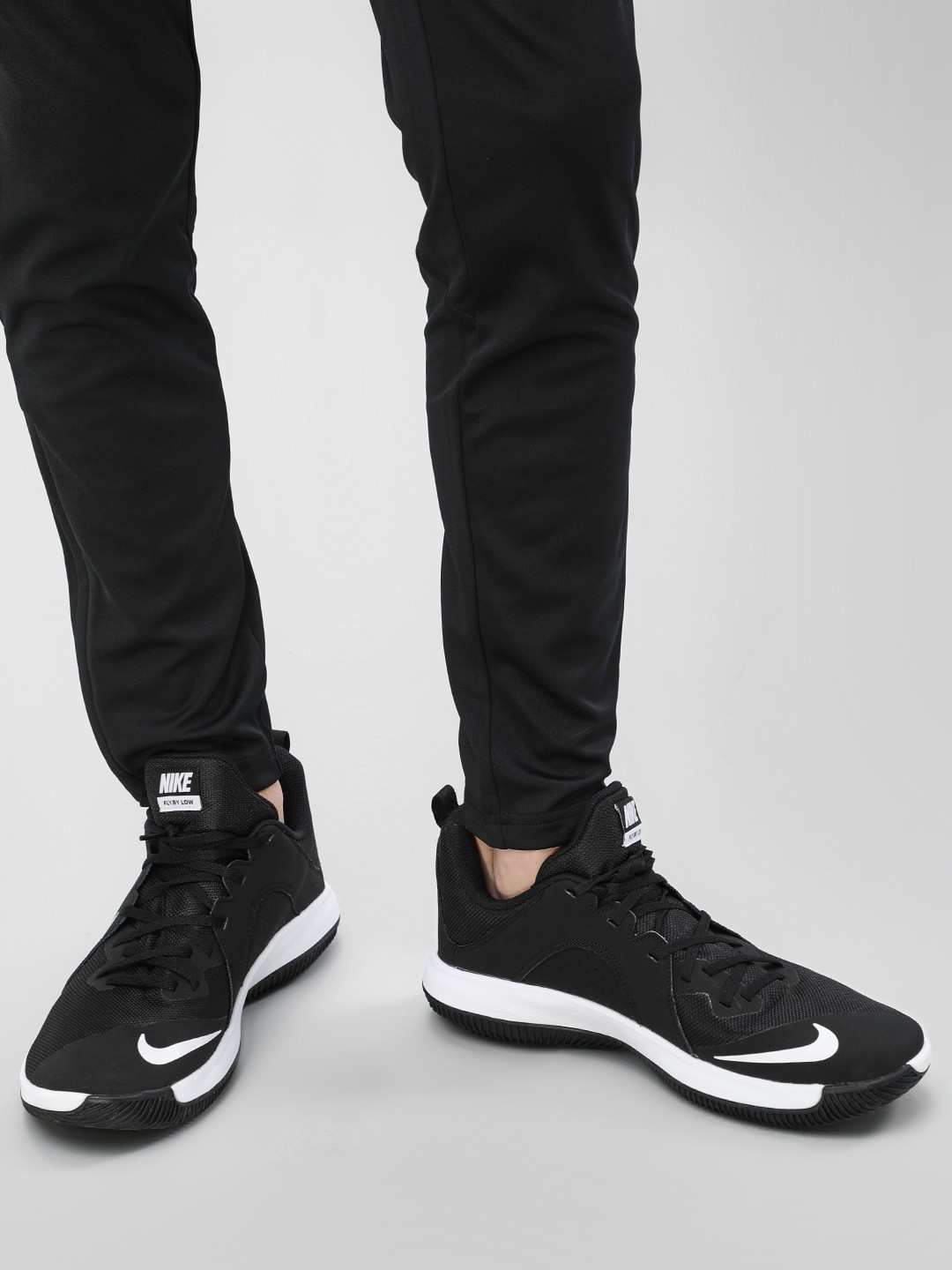 Nike Black Fly By Low Basketball Shoes 1