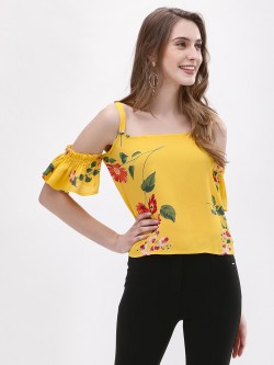 Only Cold Shoulder Floral Top