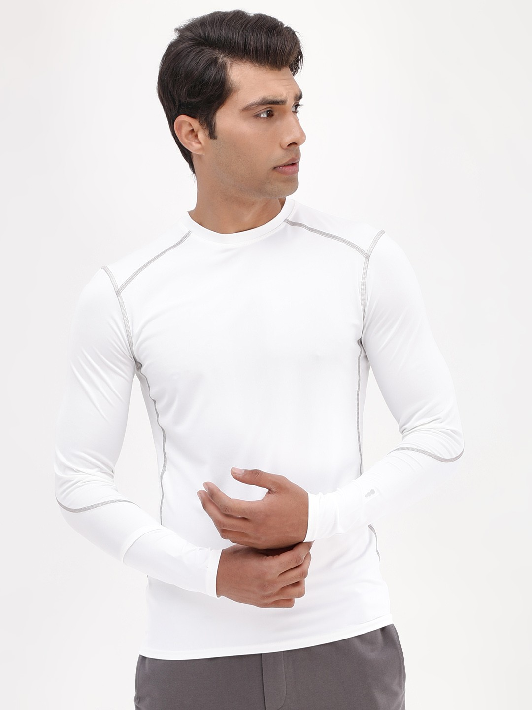 New Look White Crew Neck Active T-Shirt 1