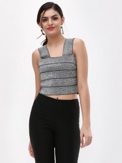 New Look Metallic Bandage Crop Top