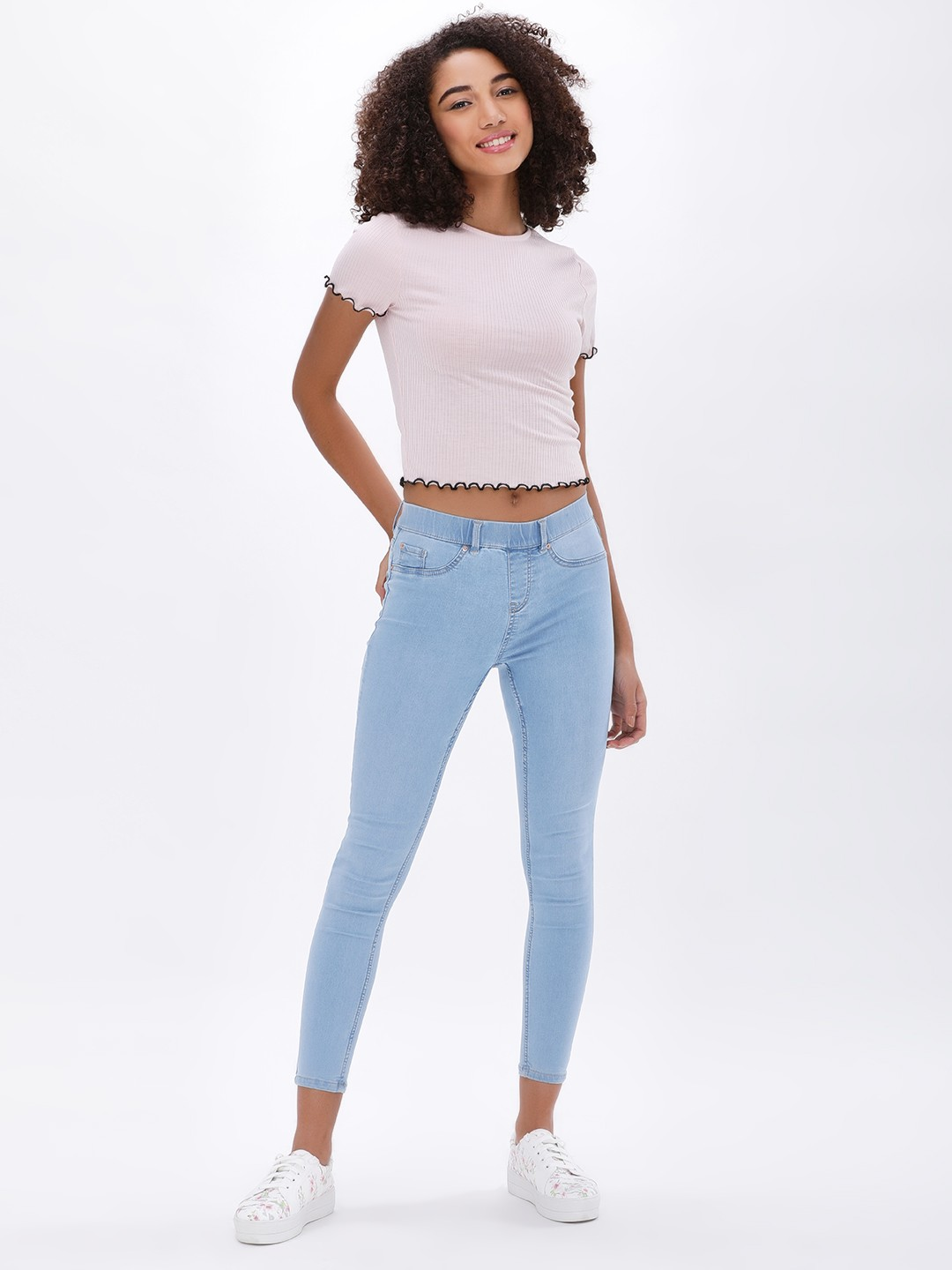 New Look PALE BLUE Basic Cropped Jeggings 1