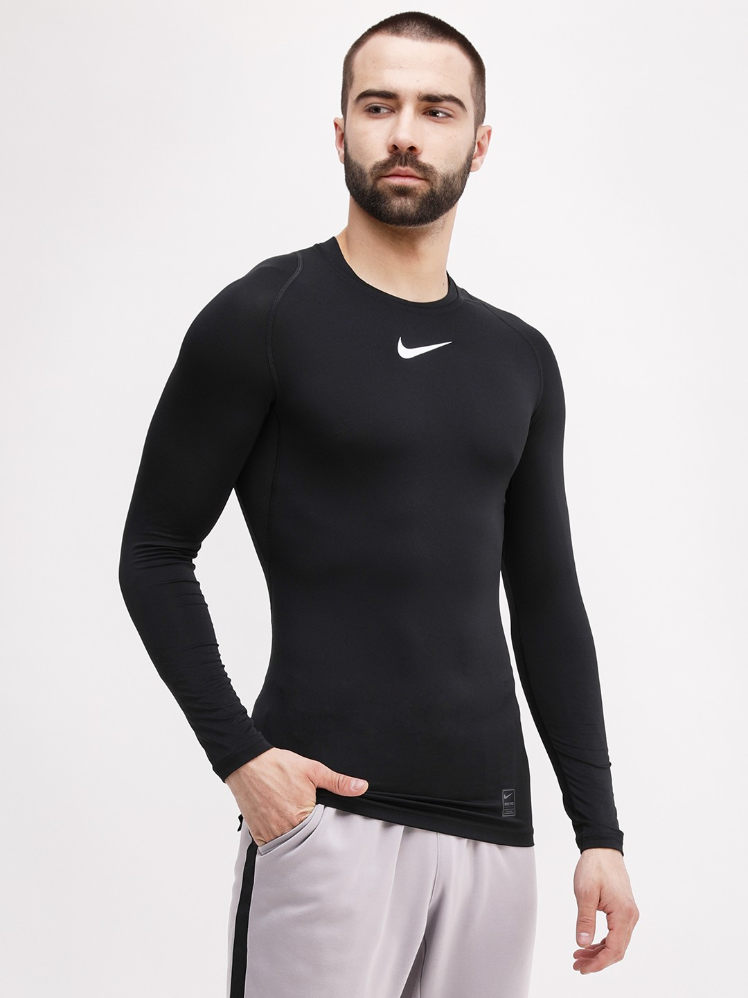 Nike Black Long Sleeve Compression T-Shirt 1