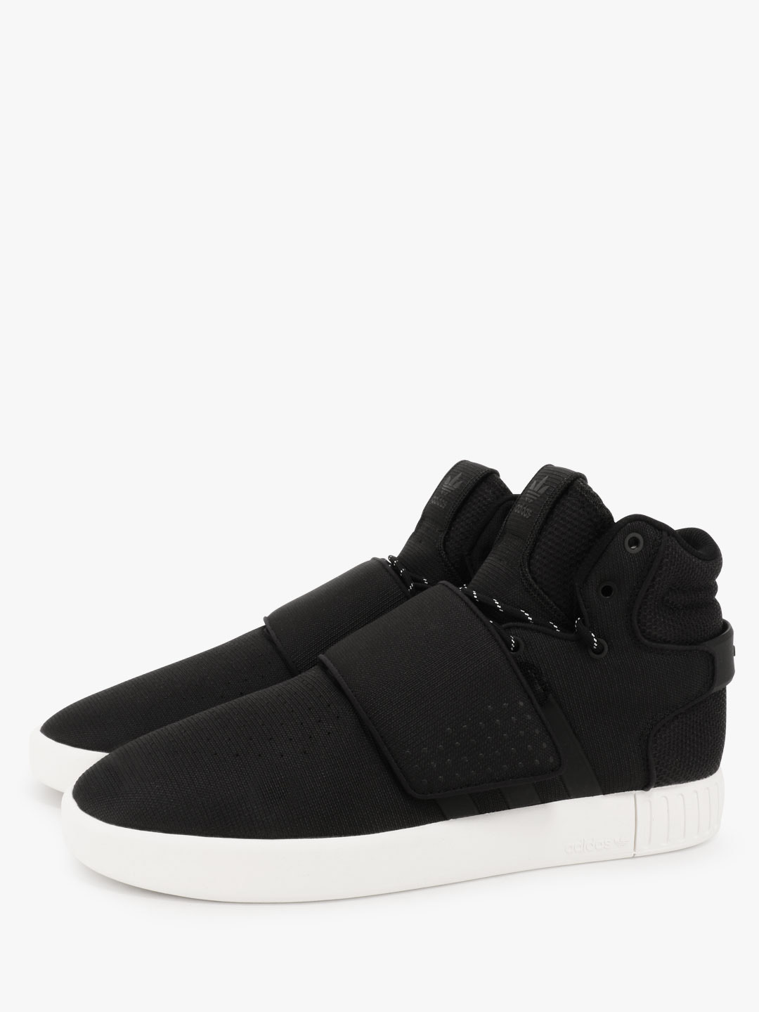 low priced 55859 af089 Buy Adidas Originals Black Tubular Invader Strap Sneakers ...