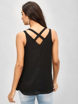 KOOVS Cross Back Cami Top