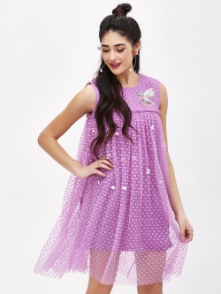 KOOVS Hummingbird Mesh Dress