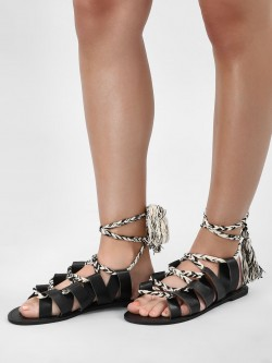 KOOVS Ghillie Lace Up Sandals