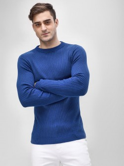 KOOVS Muscle Fit Ribbed Sweater
