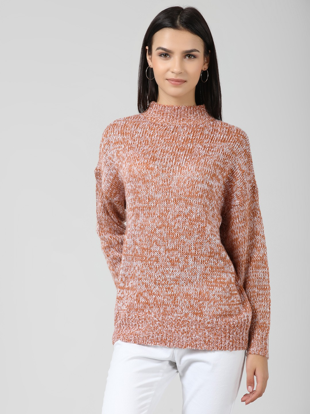 Brave Soul Copper Drop Shoulder Knit Pullover 1