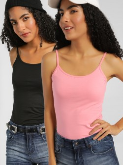 KOOVS Basic Strappy Cami Top (Pack Of 2)