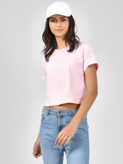 KOOVS Round Neck Crop Top