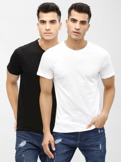 KOOVS Crew Neck Slim T-Shirt (Pack Of Two)