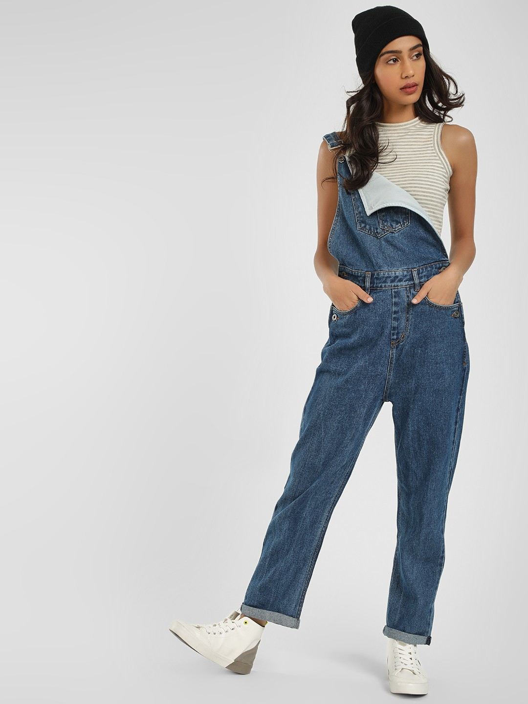 K Denim Blue KOOVS Classic Denim Dungarees 1