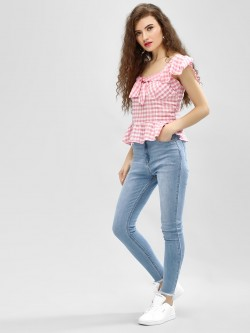 K Denim KOOVS  High Rise Skinny Jeans