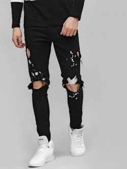 Kultprit Heavy Distressed Slim Fit Jeans