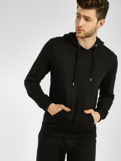 KOOVS Basic Casual Hooded Sweatshirt