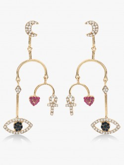 Style Fiesta Evil Eye Drop Earrings