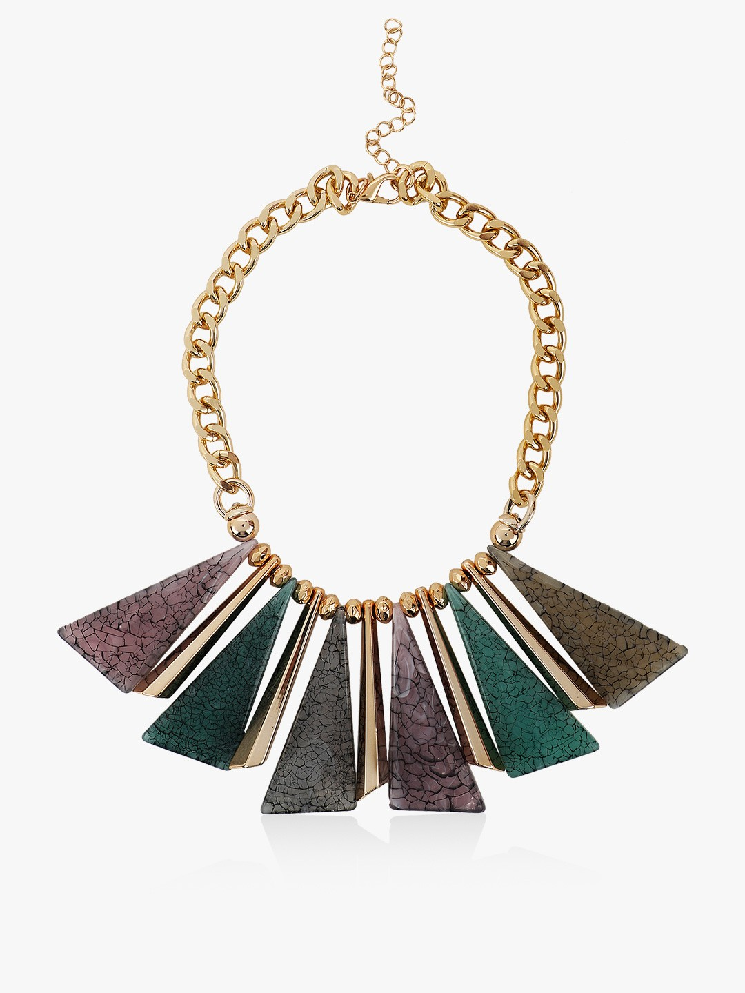 Style Fiesta Gold Marble Effect Stone Necklace 1